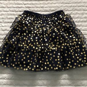 Brand new blue and gold lace skirt